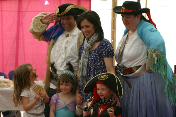 Andrea Brymer and some pirates