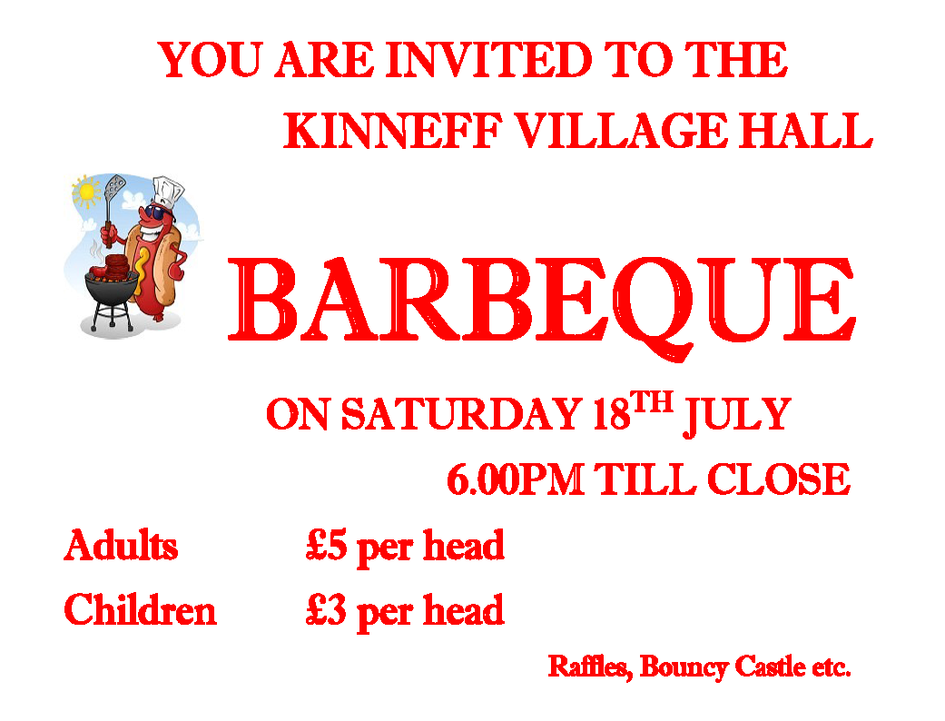 Kinneff Village Hall Annual Summer Barbeque