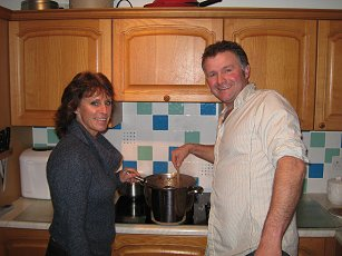 Michelle will be serving up a mess of victuals at the Village Hall Dance, ably supported by hubby Dave