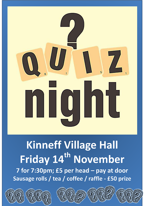 Kinneff Hall Quiz Nigh