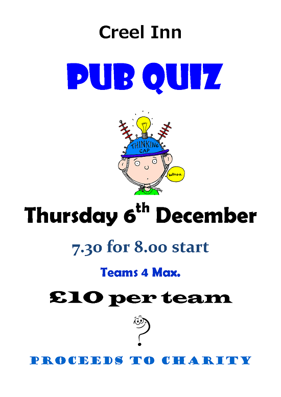Creel Inn Quiz Night 6th Dec 2012