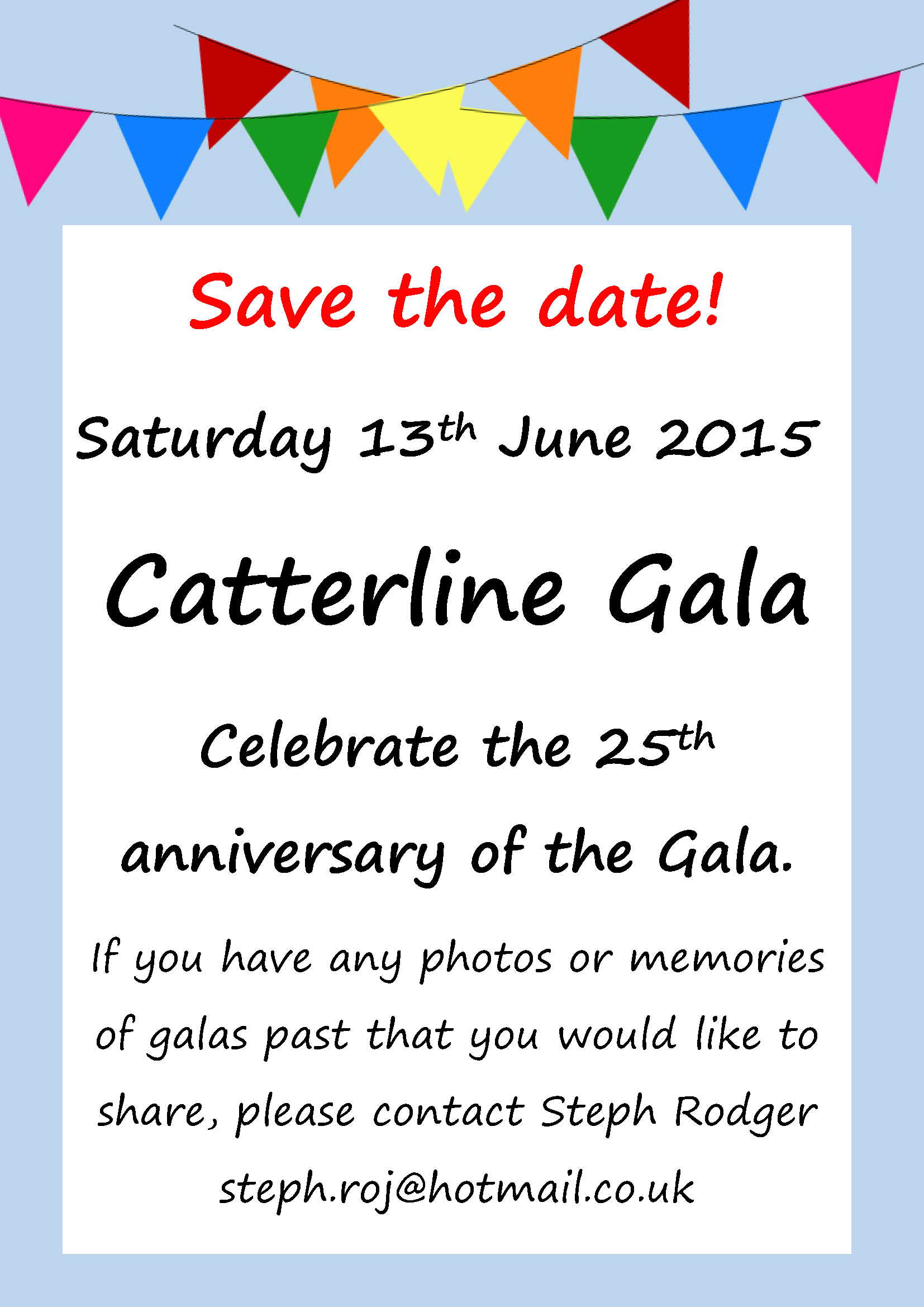 Catterline Gala 2015 - Save the Date