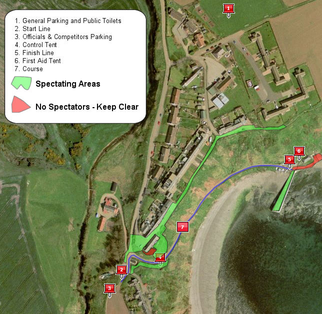 Catterline Cartie Challenge Course Map
