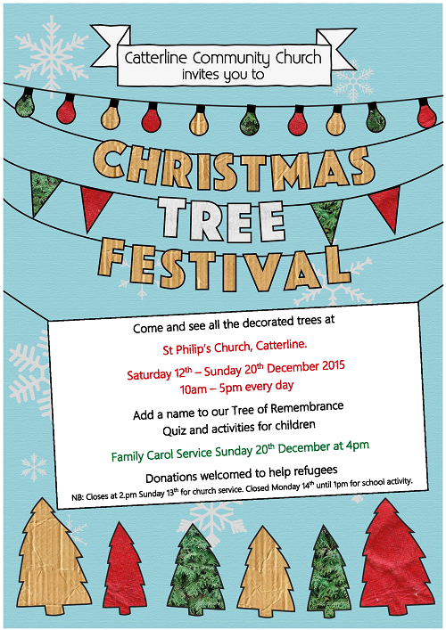 Catterline Christmas Tree Festival 2015